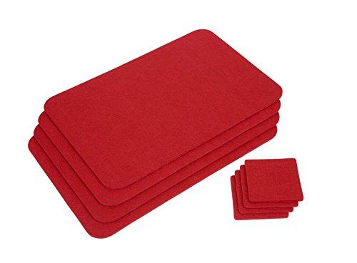 GRÄWE Platzmatten-Set 4 Stück rot
