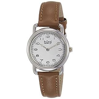 Burgi-Damen-Armbanduhr-Classic-Analog-Quarz-mit-Lederband