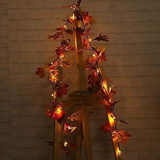 arthomer-Weihnachten-Krnze-Weihnachtsdeko-Trkranz-Kranz-Dekokranz-Weihnachten-Garland-WeihnachtskranzHanging-Door-Hanging-Decoration-Christmas-Thanksgiving-Maple-Leaves-Cane