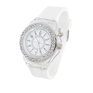 rainbabe-Silikon-Armband-Uhrenarmband-Schleife-Zifferblatt-mit-Kunstharz-Analog-Quarz-Armbanduhr-Wei
