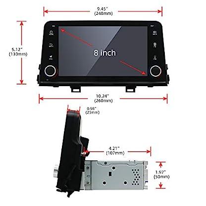 YUNTX-Android-81-Autoradio-fr-KIA-Radio-mit-GPS-Navi-Untersttzt-Bluetooth-DAB-USB-Android-Auto-WiFi-4G-MicroSD-2-Din-8-Zoll-MirrorLink-RDS