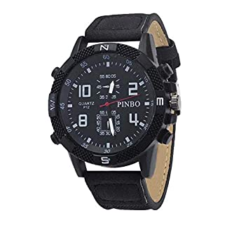 Heflashor-Unisex-Herren-Damen-Armbanduhr-Analog-Quartz-mit-Canvas-Armband-Sport-Casual-Uhren
