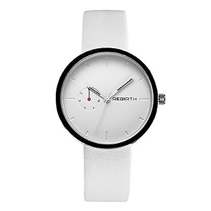 Souarts-Damen-Unisex-Armbanduhr-Einfach-Mesh-Lederarmband-Casual-Analoge-Quarz-Wasserdicht-Uhr