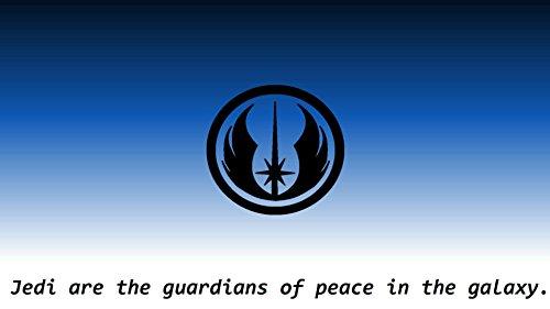 Star Wars Jedi Symbol Blau und Wei§ Manschettenknšpfe