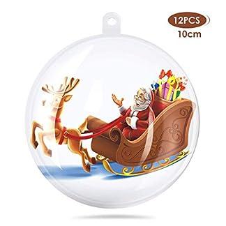 amzdeal-8cm-Weihnachtskugeln-Set-Plastik-Klar-DIY-Weihnachten-Deko-Transparent-Anhnger-Teilbar-und-Befllbar-Perfekt-fr-Weihnachten-Christbaumschmuck-Laden-Hochzeitsdeko-usw-12-Stck