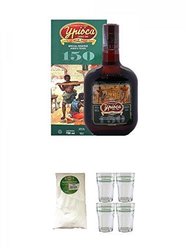 Ypica-150-Special-Reserve-6-Year-Old-Cachaca-07-Liter-Sarkara-weier-Rohrzucker-fr-Cocktails-15-Kg-Velho-Barreiro-Caipirinha-Glas-4-Stck