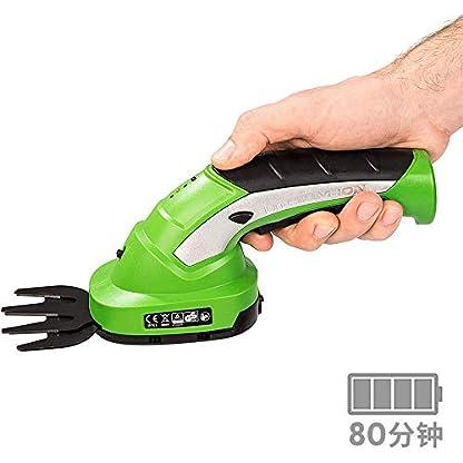 Akku-Heckenschere-Gras-und-Strauchschere-Grasscheren-inkl-Akku-und-Ladegert-36V-2000mAh-mit-2-Verschiedene-Messer