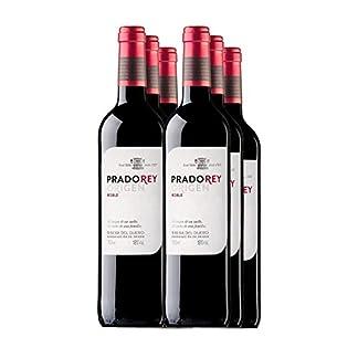 PRADOREY-Roble-Rotwein-Spanischer-Wein-Ribera-del-Duero-95-Tempranillo3-Cabernet2-Merlot-Spontan-einsetzende-Grung-3Monate-in-Fssern-aus-europischer-und-amerikanischer-Eiche-6Flaschen-075L