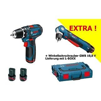 BOSCH-Akkuschrauber-GSR-108-Akku-Winkelbohrschrauber-GWB-108-mit-2-Akkus-31-tlg-BIT-BOX