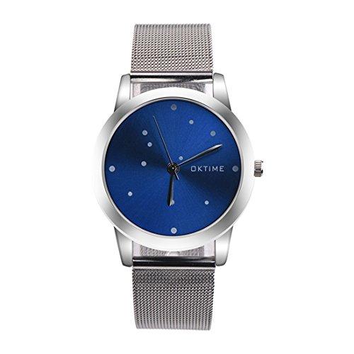 Souarts-Herren-Armbanduhr-Einfach-Design-Blau-Zifferblatt-Analog-Quarz-Uhr-mit-Batterie-Silber-Farbe