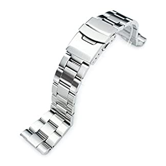 22-mm-Super-Oyster-Armbanduhr-Armband-fr-Seiko-New-Turtles-srp775-srp777-srp779-Diver-Schliee