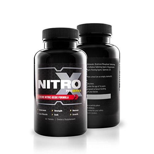 ProSeries Nitro-X Testosteron Booster Zum Schnellen Muskelaufbau – Ultimativer Weight Gainer Mit Stickstoffmonoxid – Für Fitness, Bodybuilding, Krafttraining – Monatsvorrat 60 Kapseln – Pre-Workout