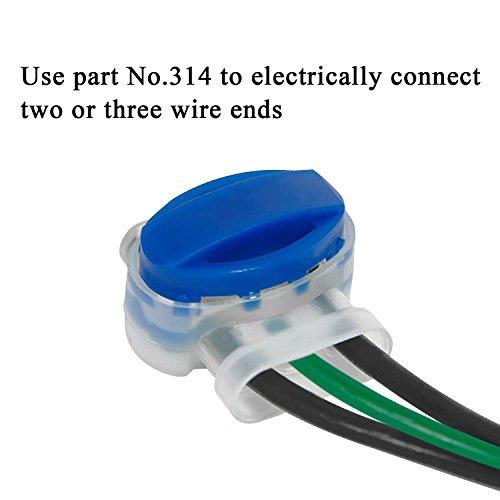 Kabelverbinder-Samione-Verbinder-Anschlussklemmen-Kabelverbinder-mit-Gelfllung-Perfekt-geeignet-fr-Garten-Outdoor-und-Rasenroboter-20-Stck