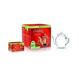 Creano-Teeblumen-BIO-im-Geschenkset-4-Teeblumen-in-verschiedenen-Sorten-und-Glasteekanne-500ml-Weier-Tee