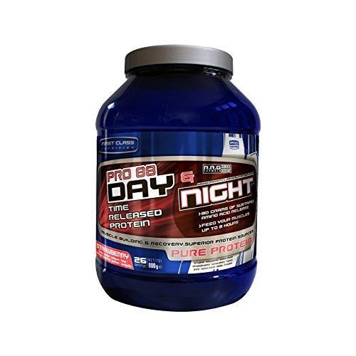 First-Class Nutrition PRO88 Day und Night Protein erdbeere – 8 Stunden mit langsamer Freisetzung, hochwertiges eiweiss, 1er Pack (1 x 2 kg)