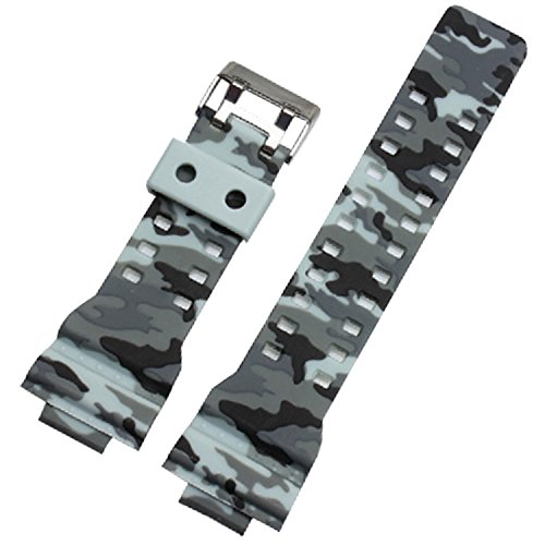 29-mm-x-16-mm-Camouflage-grau-Gummi-Uhrenarmband-Band-fr-gd120ga-100-GA-110-GA