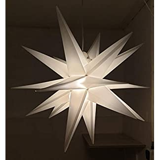 Led-Weihnachtsstern-Wei-Adventsstern-fr-Auen-Kunststoff-55cm-Mit-led-lamp-3W-Stern-3D-Auenstern-Fensterstern-Deko