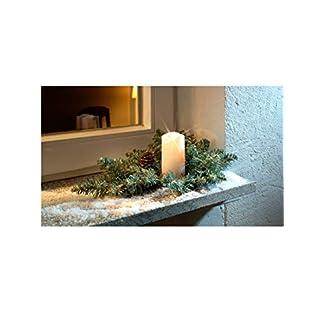 Unbekannt-Dekoration-Tannengesteck-mit-LED-Kerze-fr-Auen