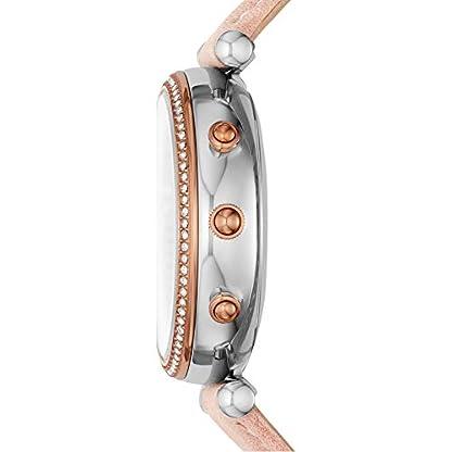 Fossil-Damen-Analog-Quarz-Smart-Watch-Armbanduhr-mit-Leder-Armband-FTW5039