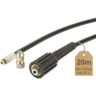 Rohrreinigungsschlauch-20m-200bar-60C-inkl-Dse-rotierend-geeignet-fr-Hochdruckreiniger-von-McFilter