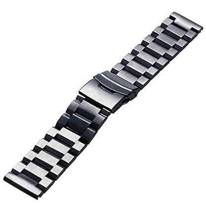 YISUYA-Ersatz-Uhrenarmband-mit-Faltschliee-massiver-Edelstahl-20-mm-schwarz