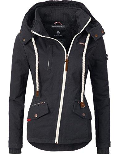 Navahoo Damen Outdoorjacke Übergangs Jacke Rehauge (vegan hergestellt) 9 Farben XS-XXL