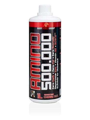 BWG Amino 500.000 (Aminosäuren und Vitamin B6, einer Zuckerart und Süßungsmitteln – für intensive Muskelanstrengungen) 1er Pack (1 x 1000ml) Flasche