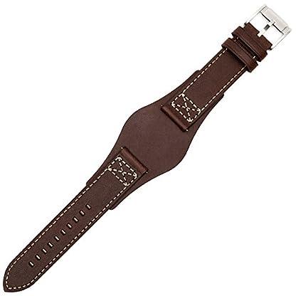 Fossil-Uhrenarmband-22mm-Leder-Braun-Glattleder-Uhrband-Set-CH-2599