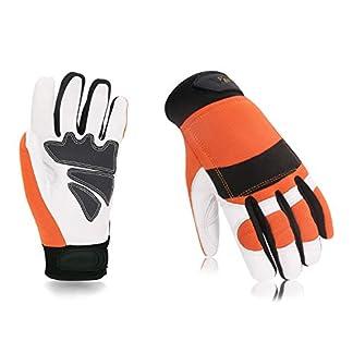 Vgo-Glove-Schnittschutzarbeitshandschuhe-Kettensgeschutzhandschuhe-hohe-Anti-Schneidenferigkeit-aus-Ziegenleder-und-PVC-Multifunktion-Orange-9L-10XL