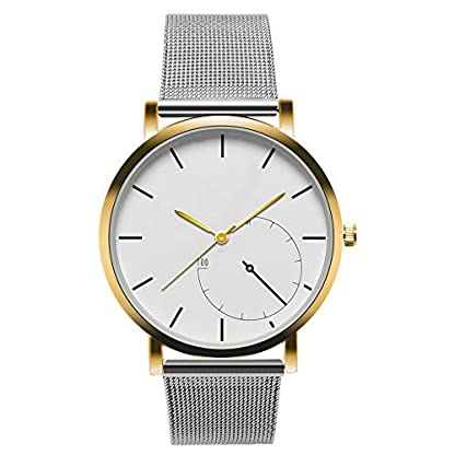 Cysincos-Unisex-Klassisch-Armbanduhr-Quarz-Analog-Mnner-Handgelenk-Uhren-mit-Edelstahl-Armband-Einfach-Quarzuhr-fr-Damen-und-Herren