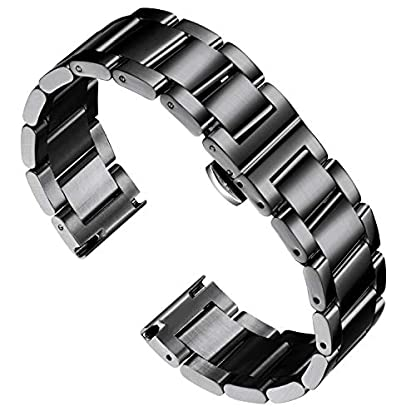 BINLUN-Stainless-Steel-Watch-Band-Replacement-Polished-Metal-Matte-Brushed-Solid-Bracelet-for-Men-Ladies-16mm-18mm-20mm-21mm-22mm-23mm-24mm-26mm-with-Butterfly-Buckle