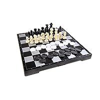 Quantum-Abacus-Magnetisches-Brettspiel-2-in-1-Premium-Gre-Schach-Dame-magnetische-Spielsteine-Spielbrett-zusammenklappbar-25cm-x-25cm-x-2cm-Mod-SC2680-DE