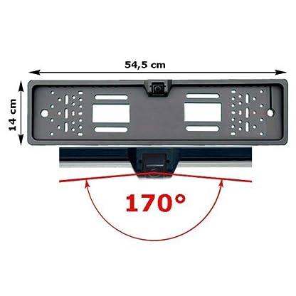Amzdeal-Funk-Rckfahrkamera-Nummernschild-Kennzeichen-Einparkhilfe-Kabellos-mit-170-Sichtwinkel-IP67-Wasserdicht-HD-Nachtsicht-Funktion