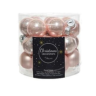 Mini-Weihnachtskugeln-aus-Glas-24er-Set-25-cm-Hellrosa-opal-matt