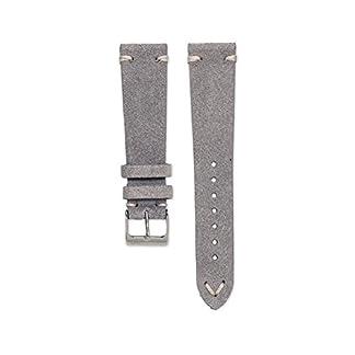 Wildleder-Uhrarmband-Vintage-Grau