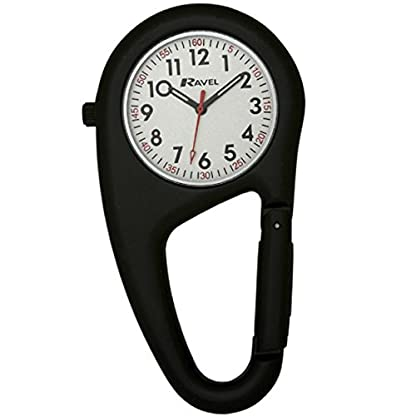Ravel-Unisex-Armbanduhr-Ravel-Matt-Black-Belt-Clip-WatchFully-Secure-to-Fit-on-your-Belt-or-Backpack-Analog-Edelstahl-Schwarz-R110503B