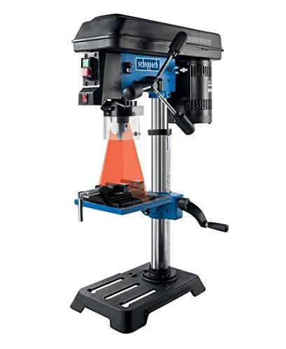 Scheppach-Tischbohrmaschine-DP16SL-mit-Schraubstock-550-W-Gusseisen-Kostruktion-5-Geschwindigkeiten-Bohrfutter-Spannbereich-16mm-integrierter-Laser-inkl-Schraubstock-fr-Holz-Metall-und-alle-gngigen-Ku
