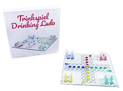 Trendario-Party-Trinkspiel-Drinking-Ludo-Brettspiel-fr-Erwachsene-lustiges-Spiel-inkl-16-Schnapsglser
