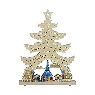 LED-Lichterspitze-Lichterecke-Schwibbogen-Lichterbogen-Leuchter-Seiffener-Kirche-und-Kurrende-mit-innenbeleuchteten-Gebuden-natur-farbig-aus-Holz-ca-53-cm-hoch-inklusive-Trafo-Weihnachten-Advent-Gesch
