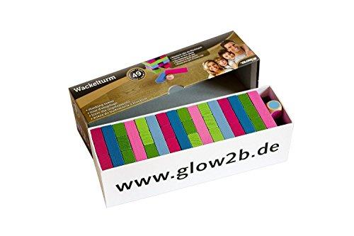 Glow2B-1000519-Wackelturm-buntes-Wrfelspiel-49-teilig