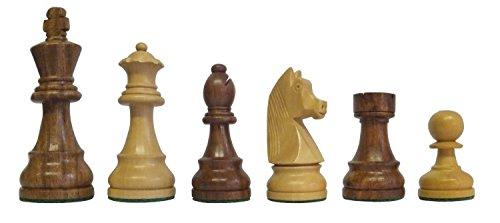 SchachQueen-Bundesliga-Turnier-Schachfiguren-braunwei-Classic-Holz-Knigshhe-97-mm