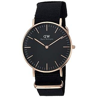 Daniel-Wellington-Unisex-Armbanduhr-CLASSIC-BLACK-Analog-Quarz-Textil-DW00100150