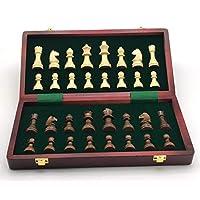 INTIGNIS-Hlzernes-Schachspiel-handgefertigt-faltbar-fr-Kinder-Erwachsene-traditionelles-Spiel