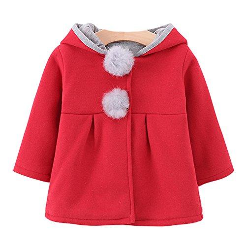 Damen Kinder Mädchen Kaninchenohren Jacken Kapuzenjacke 73-100cm