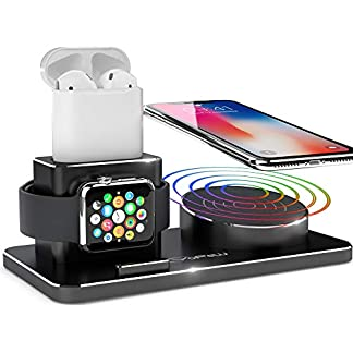 Apple-Watch-Ladestation-YFW-Wireless-Charger-10W-QI-Ladestation-fr-iPhone-XS-MaxXsXRX88-Plus-Kompatibel-mit-Apple-Watch-Series-4-3-2-1-AirPods-inkl-2-Kabel