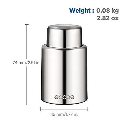 Ecooe-Vacuum-Weinverschluss-Flaschenverschluss-Wein-Edelstahl-Wein-Zubehr
