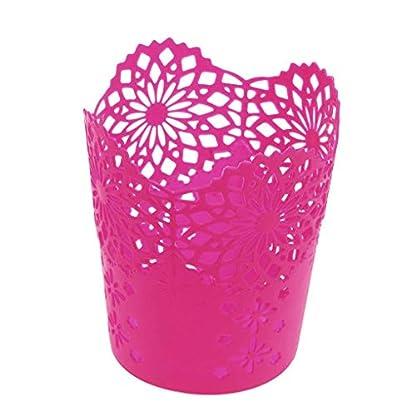 Babysbreath17-Multifunktionale-Hohle-Blumen-Feder-Pot-Verfassungs-kosmetische-Brsten-Halter-Desktop-Mll-Mini-Speicher-Korb