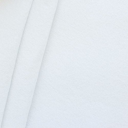 Bastel Filz Stoff Stärke 3,0mm Breite 90cm Meterware Weiss