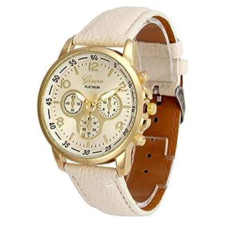 Jia-Meng-Paar-Genf-Quarzuhr-Unisex-Casual-Genf-Kunstleder-Quarz-Analog-Armbanduhr-Uhren