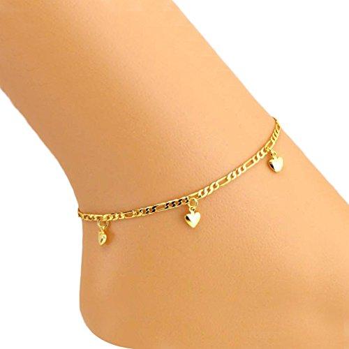 Tonsee neues Sprunggelenk Armband Fuss Schmuck solide Herz einfache Fußketten für Frauen Mädchen Geschenk Chaine Armband
